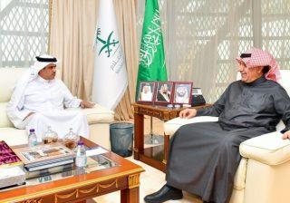أثناء لقائه وزير الإعلام السعودي.. وزير شؤون الإعلام: إن ما تتبناه السعودية من سياسات إعلامية متزنة تروج للخير والسلام، وتنبذ التطرف والإرهاب، يجعلها عصية على المحاولات المغرضة ضدها