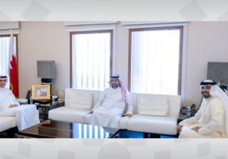 وزير الإعلام يستقبل النائبين محمد بوحمود ومحمد عيسى