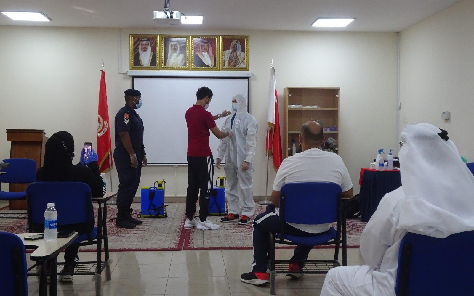 بالتعاون مع الإدارة العامة للدفاع المدني , تدريب منتسبي الوزرارة على مواجهة جائحة كورونا