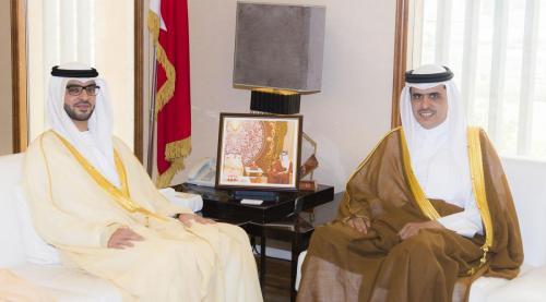 صورة خبر - وزير الإعلام مع السفير الإماراتي الجديد 13-5-2018